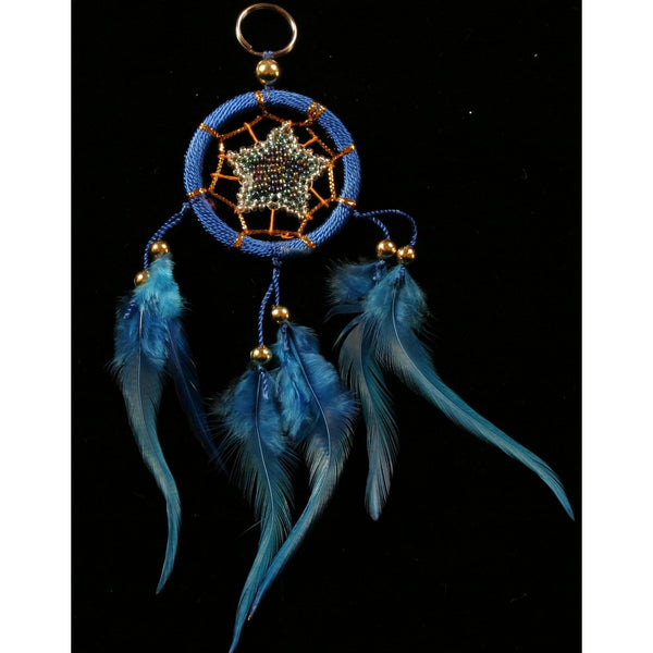 dreamcatcher keyring blue