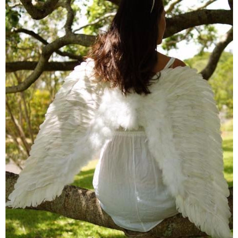 Adult Angel Wings White Feather