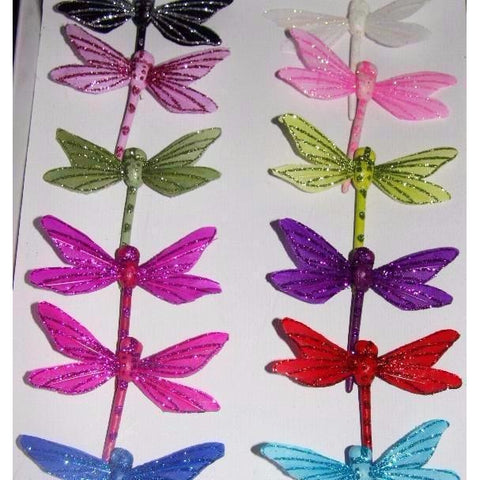Dragonfly decoration  on florist wire