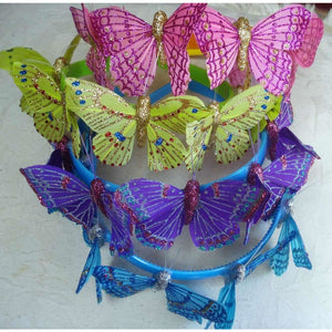 Butterfly headband assorted colours handmade