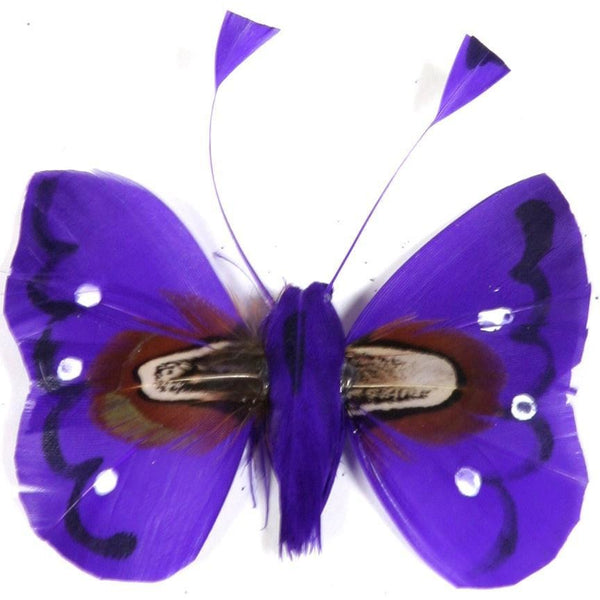 Wedding cake butterfly decoration feather cake topper purple ornament DIY butterfly decoration craft supplies