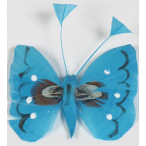 Handmade feather butterfly blue turquoise
