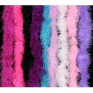 Feather Boa Marabou assorted colors white red black blue purple pink hot pink soft