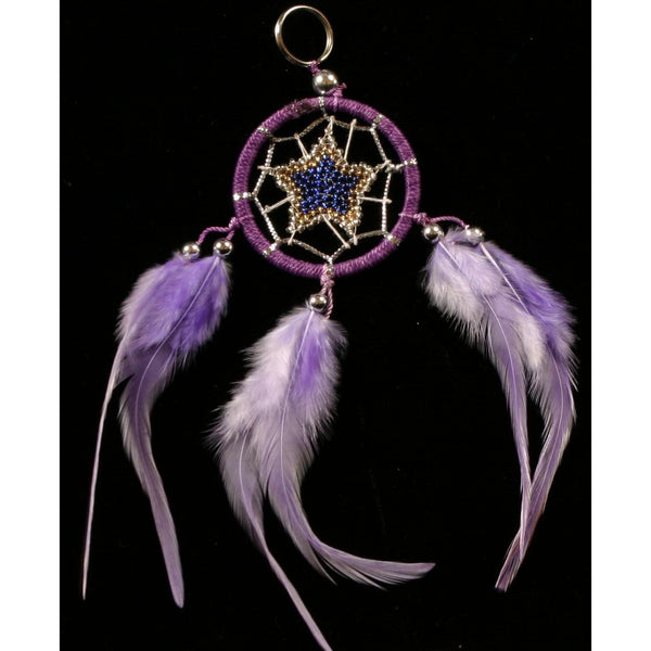 Keyring Dream Catcher light purple