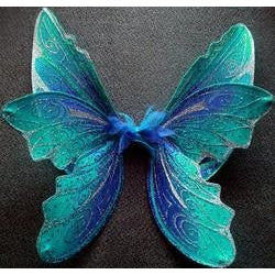Handmade Adult Size wings blue turquiose custom made wings large theatre