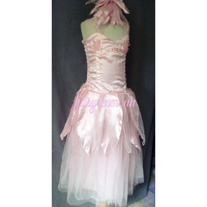 Soft pink princess dress mermaid fairy dress flower wedding dress