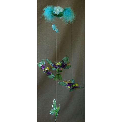 Butterfly Mobile Hanging Room Decoration Greens