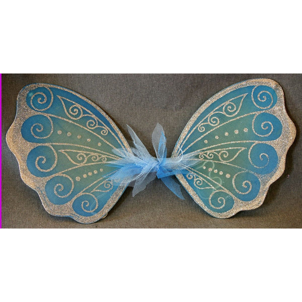 Blue Fairy Wings handmade glitter design