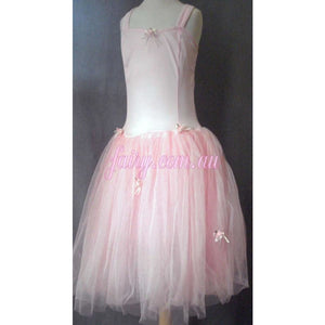 Romantic Ballerina Ballet Skirt Matching stretch lycra leotard Soft Pink