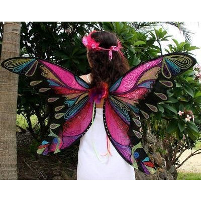 HUGE BUTTERFLY WINGS Pink Red Black