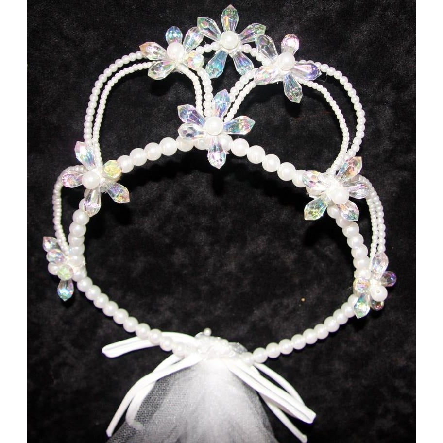 Crystal Flower Tiara Crown Bridal Dressup Costume
