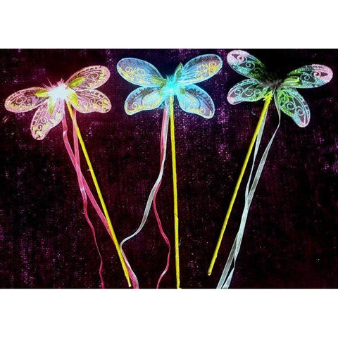 Handmade dragonfly dragon fly stick wand fair wand party floral bouquet ornament