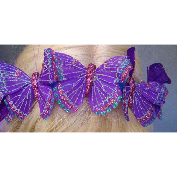 Purple Butterfly garland headband headwear