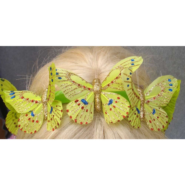 Butterfly Lime Green garland headband handmade costume