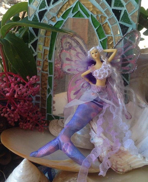 LILAC Mermaid Tail Doll Butterfly Wings
