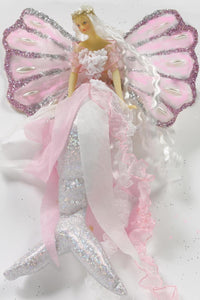 PINK Mermaid Tail Doll Clam Shell Wing