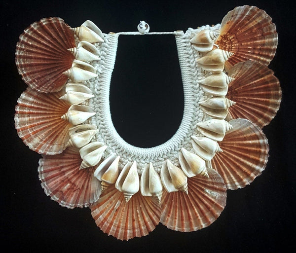 King Neptune Tribal Mermaid shell necklace