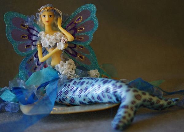 TURQUOISE Mermaid Tail Doll Butterfly Wings