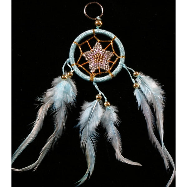 Keyring dream catcher blue