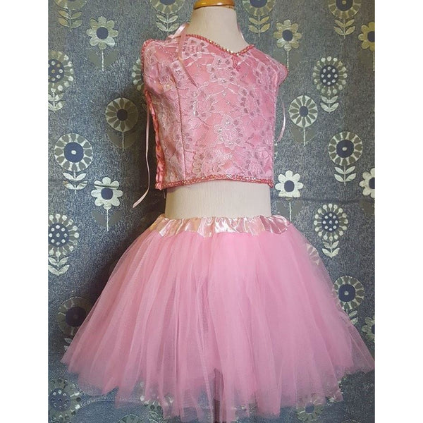 Tutu Fairy costume set light pink top and skirt fairy party ballet costume set