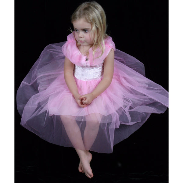 Pink Velvet Party Dress Tutu fairy flower Child opera gown dressup costume