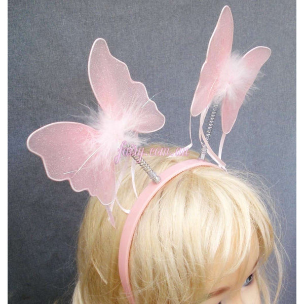 Butterfly Headband decorate yourself DIY kids party idea fairy pink