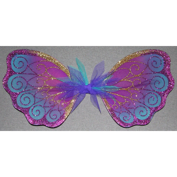 purple turquiose gold fairy wings handmade dressup party costume