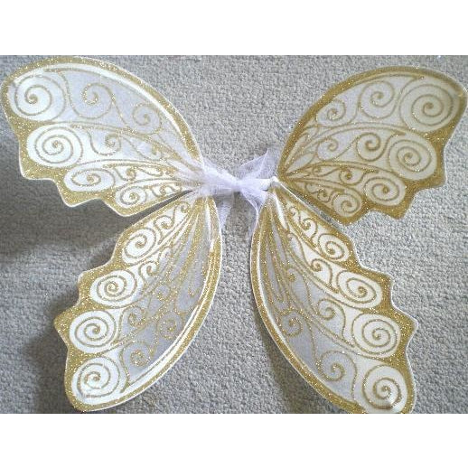 White Gold Fairy Wedding Wings Adult Size Custom colors. Fairy Wing factory Byron Bay Australia