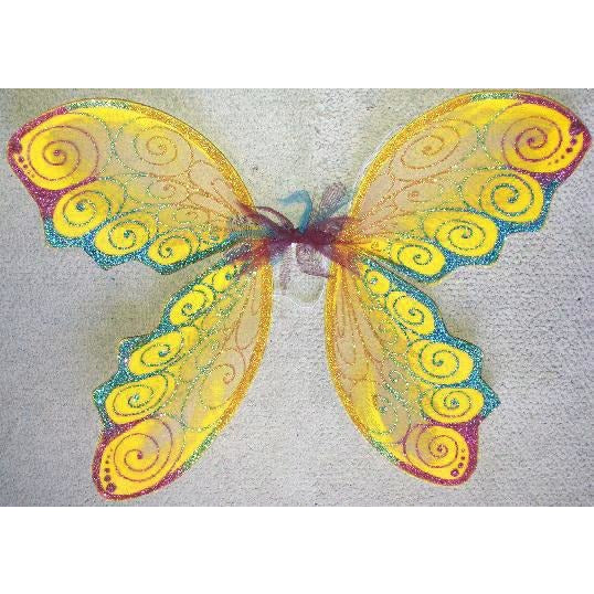 Fairy Wings Yellow Buttercup Reggae festival Custom colors Adult Size handmade