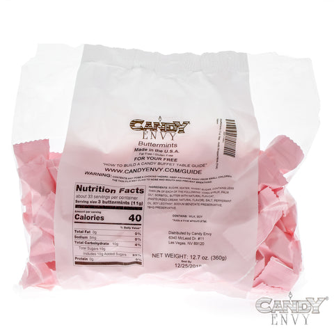 Candy Envy Buttermints, Pink with Nutritional Information and Best By Date