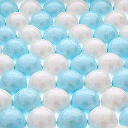 Shimmer Light Blue and Shimmer White Gumballs - Large 1 Inch Gumballs - 4 Pounds Total- 2 Pound Bag of Light Blue, 2 Pound Bag of White