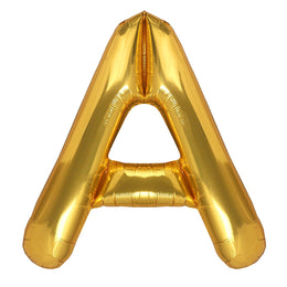 "40 Inch ""A"" Gold Foil Balloon Letter - Party Envy"