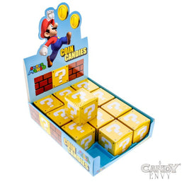 Coin Candies - Officially Licensed by Nintendo, Super Mario Bros. Question Mark Candy Tins - 12-Pack