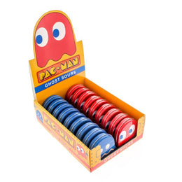 Pac-Man Ghost Sours - Red and Blue Ghost Tins - 18-Pack