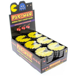 Pac-Man Bonus Fruit - Iconic 8-bit Pac-Man Shaped Tins with Cherry Flavored Candies - 18-Pack
