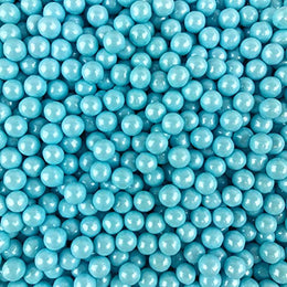 Candy Pearls - Shimmer Light Blue, 2 Pound Bags - Delicious Toppings on Desserts or Fillers for Candy Tables