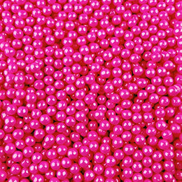 Candy Pearls - Shimmer Pink, 2 Pound Bags - Delicious Toppings on Desserts or Fillers for Candy Tables