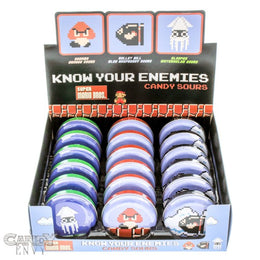 Know Your Enemies - Officially Licensed by Nintendo, Super Mario Bros. Baddy Candy Tins - 18-Pack