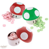 Mario Mushroom Tins - Officially Licensed by Nintendo, Super Mario Bros. 1-Up and Power-Up Mushroom Candy Tins - 3-Pack