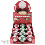 Mario Mushroom Tins - Officially Licensed by Nintendo, Super Mario Bros. 1-Up and Power-Up Mushroom Candy Tins - 12-Pack