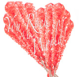 Rock Candy - Red, Strawberry Flavored - Individually Wrapped Multipacks
