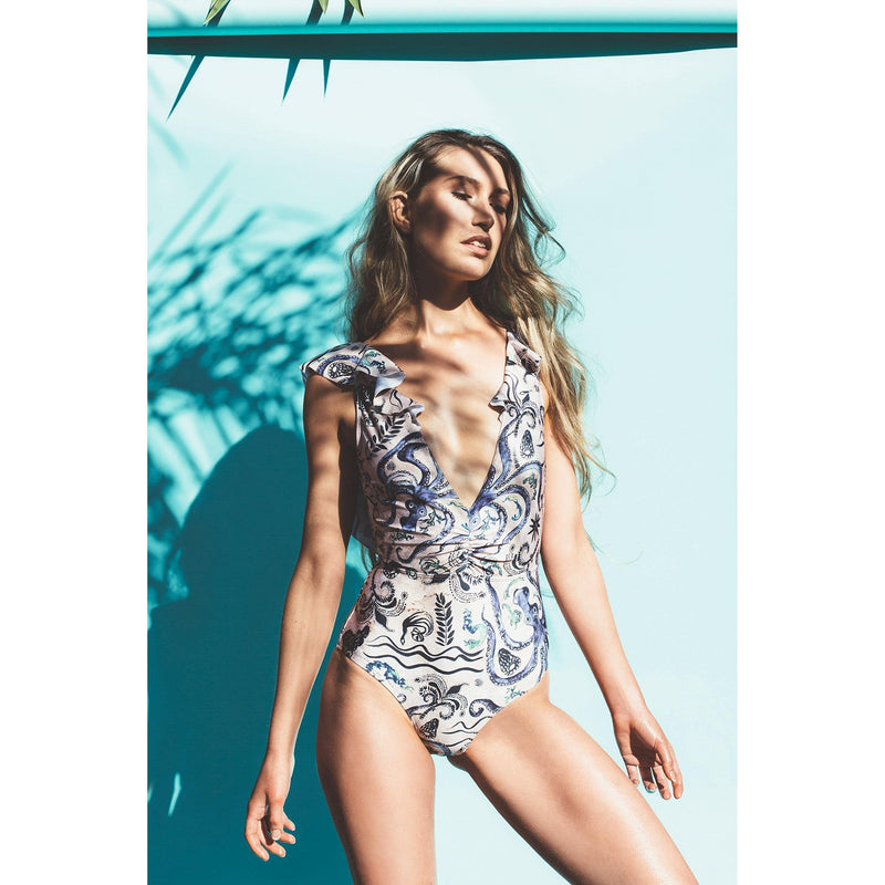 Salty Fox printed one piece maillot