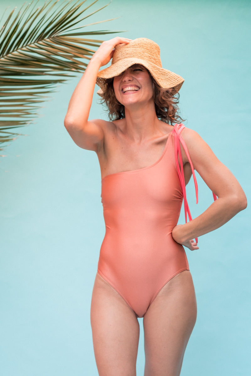 Selena  one piece - Peach & Pomegranate