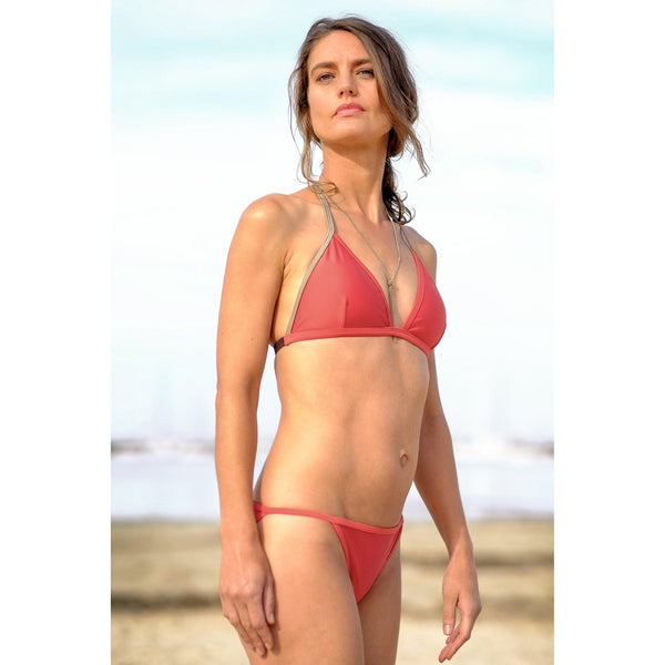 Salty Fox  fixed tri bikini brief in watermelon red size 10