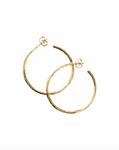 Hammered Oversized Hoops Gold Plated