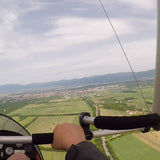 A hang glider flight over Kazanlak and the surrounding area. Magnificent views like a dream