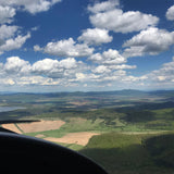 Pilot lesson on a two-seater superlight aircraft. Montana.