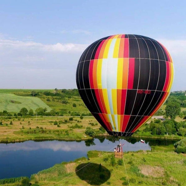 Panoramic balloon ascent and HD camera shooting