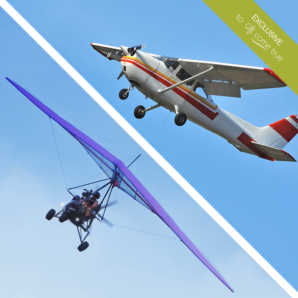 Flights from happiness. Package - tandem flight with hang glider and Cessna 152