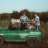 Off-road adventure with jeep and wine tasting for two in a small boutique cellar in Stara planina.